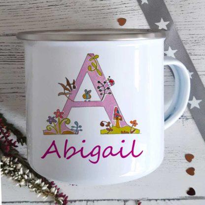 Alphabet Girls Enamel Mug