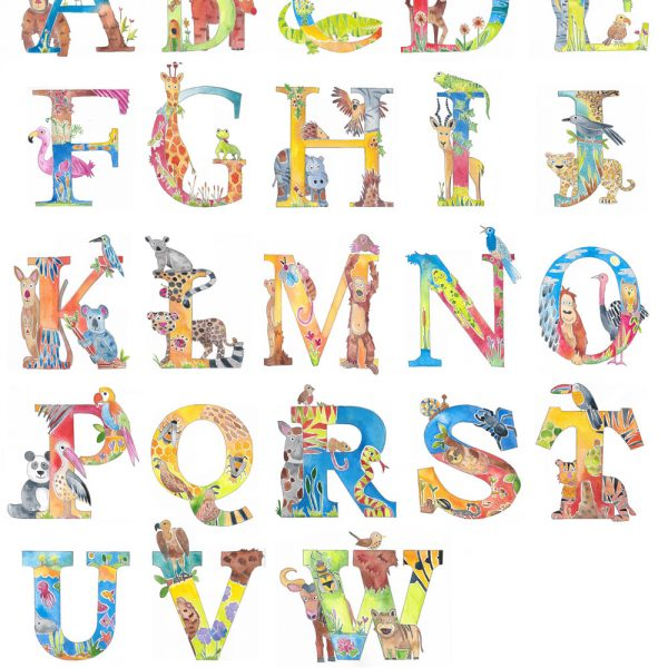 animal alphabet name picture