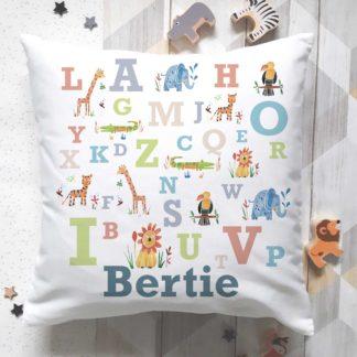 animal alphabet cushion