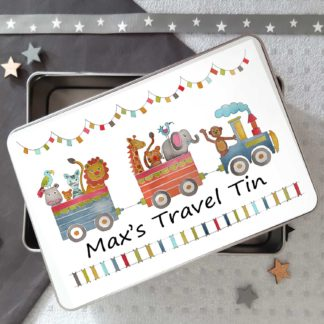 Animal Train Tin