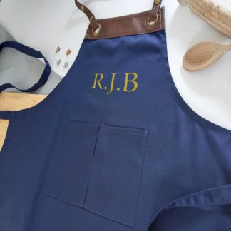 apron with initials