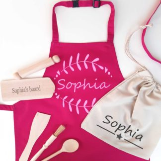 Personalised Cotton Apron Set