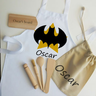 batman logo apron