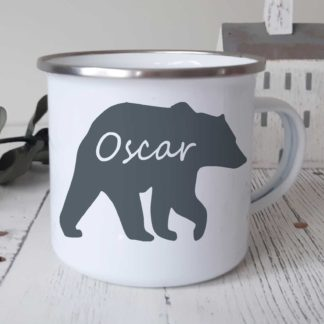 bear camping mug