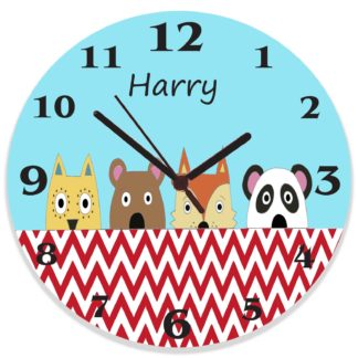 Bear Friends Clock