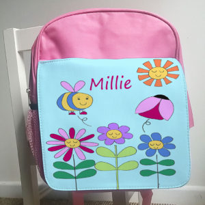 girls personalised back pack