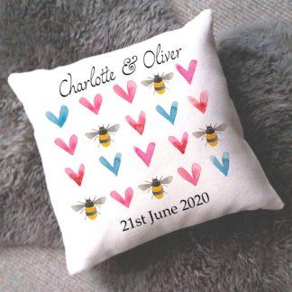 Bee Valentine's Cushion