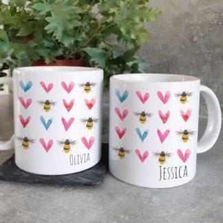 bee heart mugs