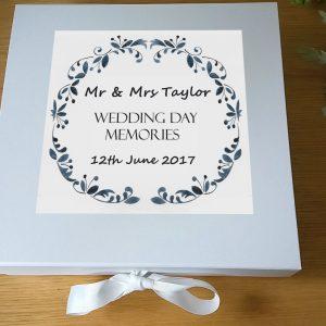 wedding day keepsake box gift
