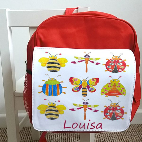 personalised girls back pack