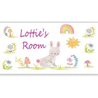 Bunny Nursery Door Sign