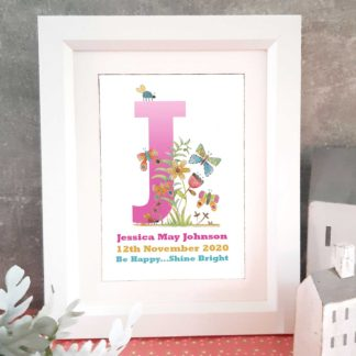 Butterfly Personalised Letter art