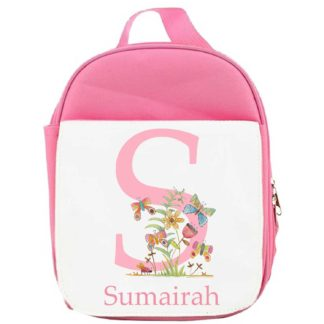 Butterfly Initial Lunch Bag