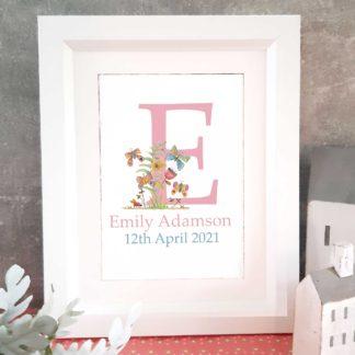 Butterfly Framed Name Letter Art
