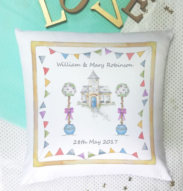 wedding personalised cushion gift
