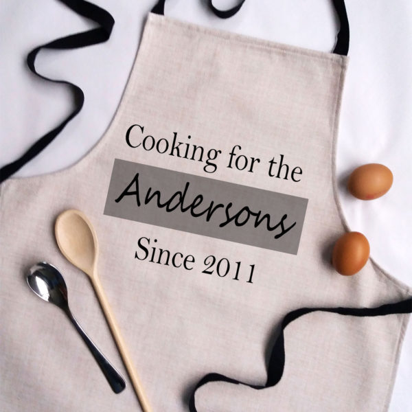 adult personalised apron