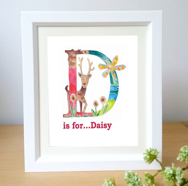 Framed Name letter art