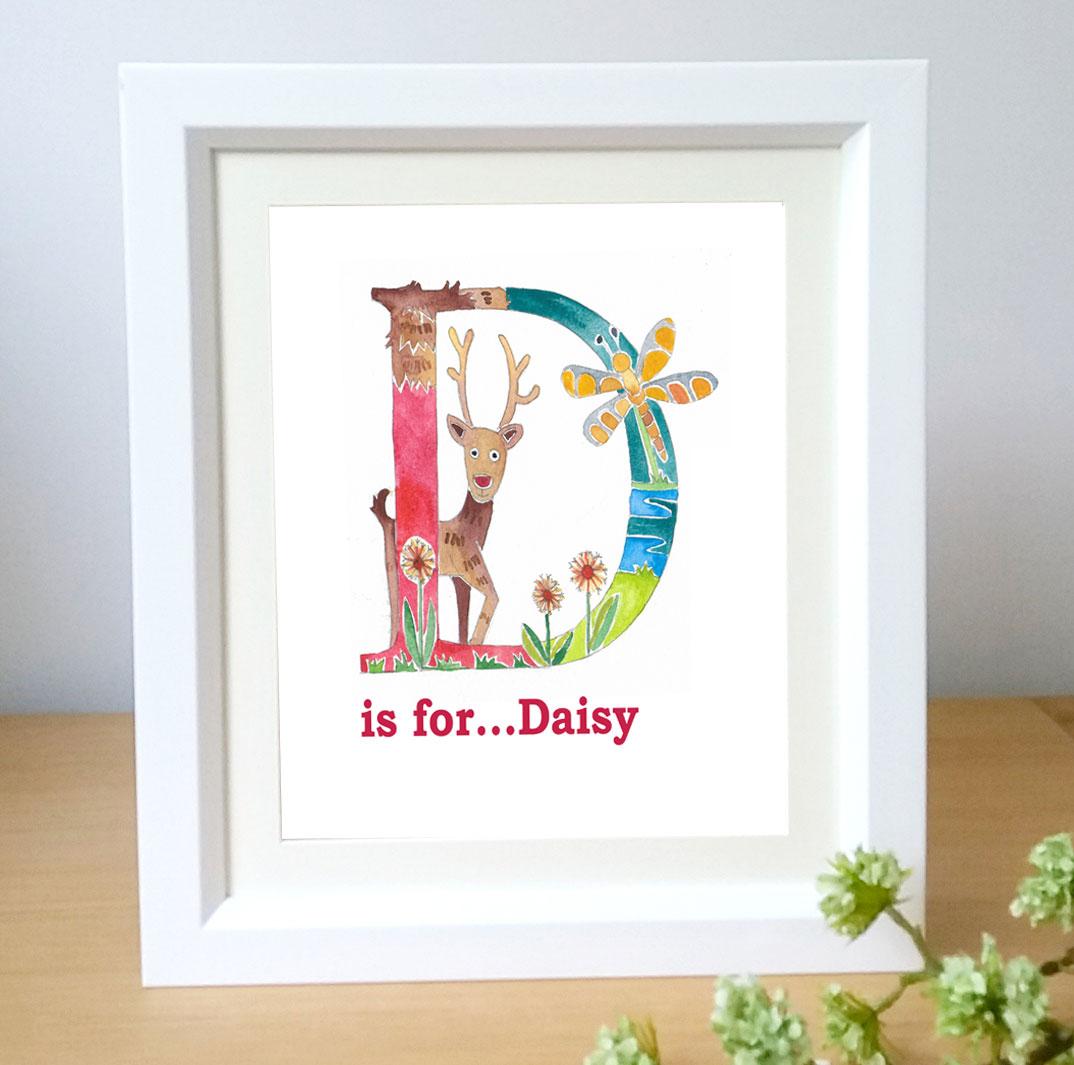 Framed Name letter art