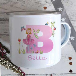 Dancer initial mug