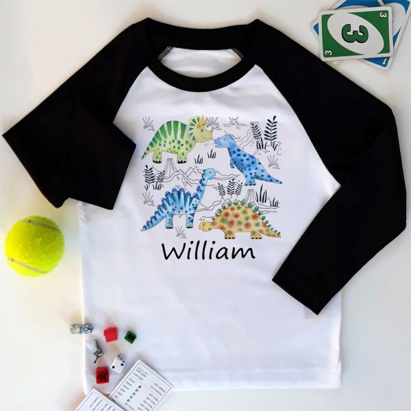 boys personalised long sleeved T Shirt