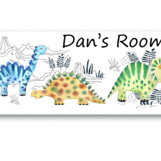 dinosaur door signs