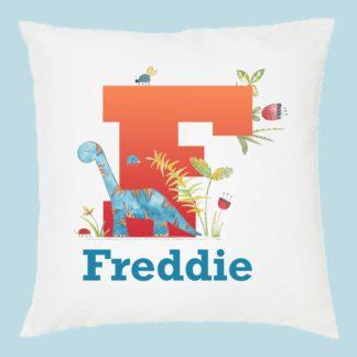 Dino Name cushion