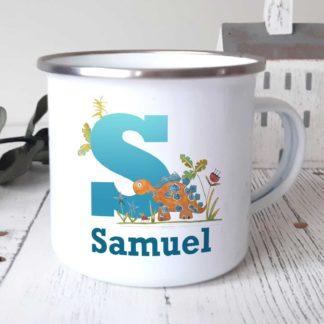 Personalised Camping Dinosaur Mug