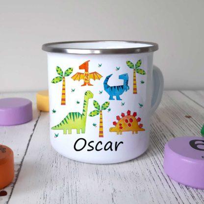 Dinosaurus-Enamel-Mug