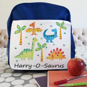 Personalised dinosaur backpack