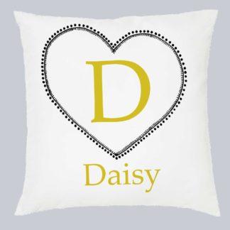 Dot heart girl's cushion