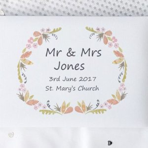 floral wedding day personalised guest book