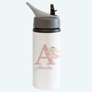 Fairy Children's personalised bottle with straw