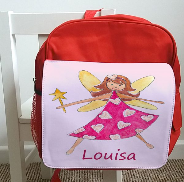 Girls Personalised School Bag