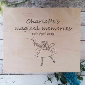 Baby Girl Wooden Keepsake Box
