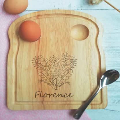 flamingo breakfast board