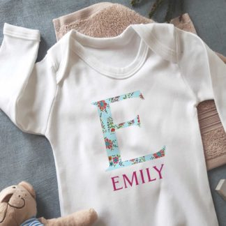 Girls Personalised Sleepsuit