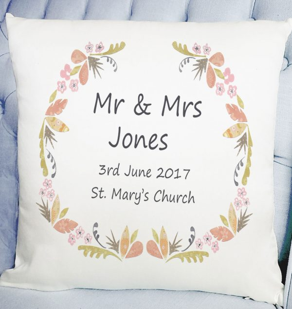 personalised wedding cushion gift