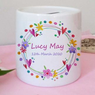 Flower Money Box