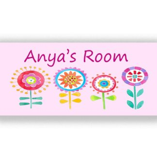 Flower Door Sign