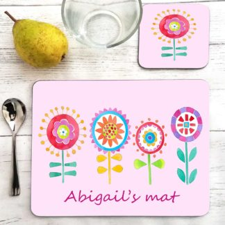 Flower Personalised Placemat