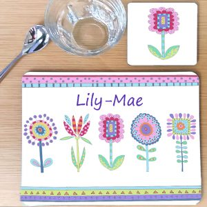 children's personalised place mat