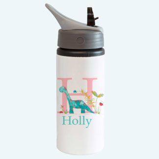 GIrls Dinosaur Bottle with straw
