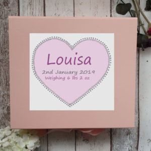 pink keepsake box for baby girl