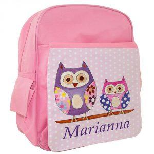 Personalised Girls School Ruck Sack