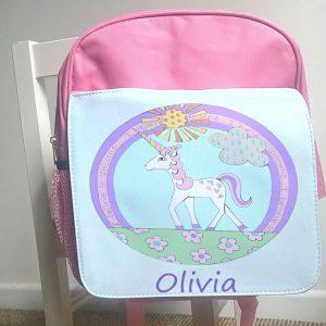 personalised girls school bag