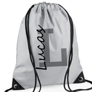 Name grey swim bag