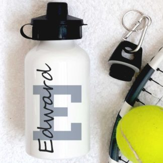 Personalised Grey Letter Bottle