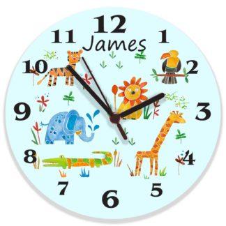 Jungle Animal Clock