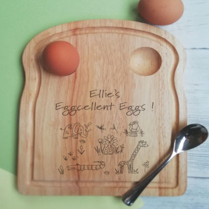 jungle animal egg board