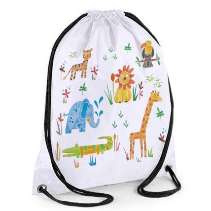 jungle drawstring bag